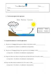 water cycle esl worksheet by niapt. Black Bedroom Furniture Sets. Home Design Ideas