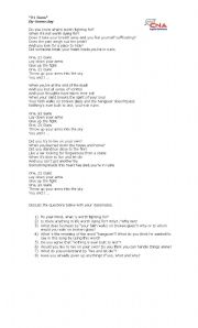 English Worksheets: 21 guns - Green Day