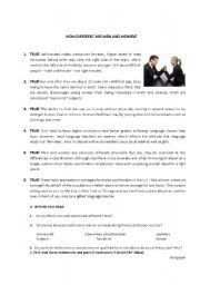 English Worksheets: Are man and woman different