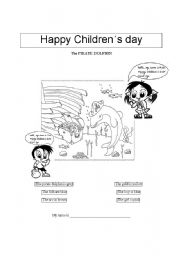 English Worksheets: Happy Childrens� Day