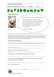 English Worksheet: environment_endangeredspecies