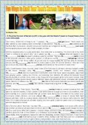 English Worksheet: HOLIDAYS - FUN WAYS TO LIMIT YOUR TEEN�S SCREEN TIME THIS SUMMER