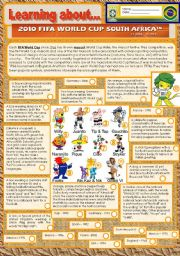 Reading - The world cup mascots