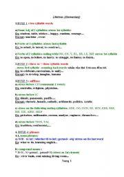 English Worksheet: word stress