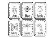 English Worksheets: Creepy crawlies (Playing cards)