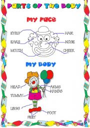 English Worksheets: parts of the body vocabulary