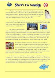 English Worksheets: Shark�s Fin Campaign