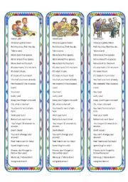 English Worksheet: Game Bookmarks with Words and Phrases Related to Games