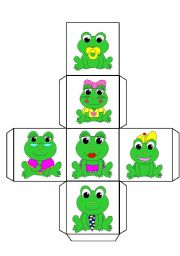 English Worksheet: The Frog Family dice