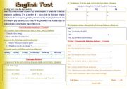 English Worksheet: English Test ( unit Sports + Entertainment)