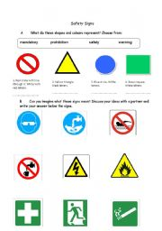 Worksheets Safety Sign Worksheets esl worksheets for adults safety signs english worksheet signs