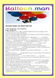 English Worksheets: Balloon man