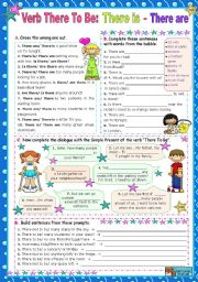 English Worksheet: Verb There to be - Simple Present: There is/ There are
