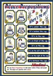 English Worksheet: PLACE PREPOSITIONS - POSTER