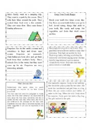 English Worksheets: Extracting the main idea
