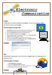 English Worksheets: Electronic Communication