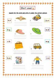 math worksheet : a e i o u worksheets for kindergarten  worksheets for education : Kindergarten Short Vowel Worksheets