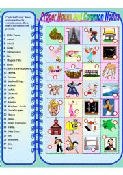 English Worksheet: Proper Nouns and Common Nouns **fully editable