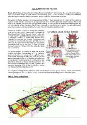 English Worksheets: Reading: Historical Places _ Temple of Literature Vietnam