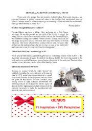 Reading: Thomas Alva Edison - Fascinating facts