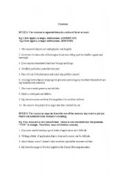 English Worksheet: Comma Rules