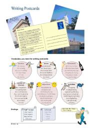 English Worksheet: Writing Postcards