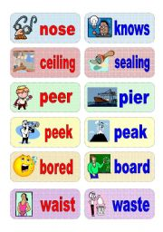 English Teaching Worksheets Homophones