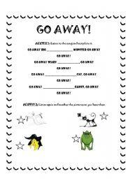 English worksheet: go away!