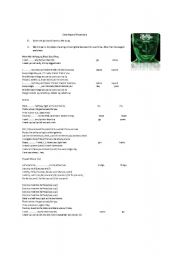English Worksheets: Meet me halfway by Black eyed peas lyrics