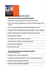 English Worksheet: The Terminal DVD activity