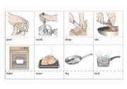 English Worksheet: Cooking verbs Flashcards