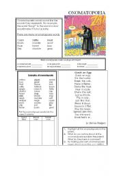 English Worksheet: Onomatopoeia