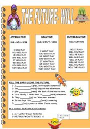 Printables Will Worksheet english worksheets will page 69 future worksheet