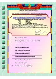 English Worksheets: Gathering Information from a notice