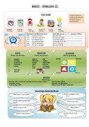 English Worksheets: Basic English 2