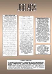 English Worksheets: Job Ads