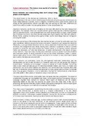 English Worksheets: Cybernationalism part 2