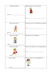 English Worksheet: game on health with modal verbs