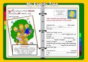 English Worksheet: BART´S FAMILY TREE (bart simpson)