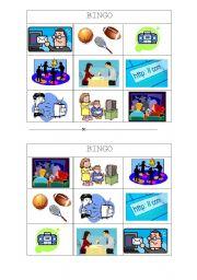 English Worksheet: FREE TIME ACTIVITIES BINGO