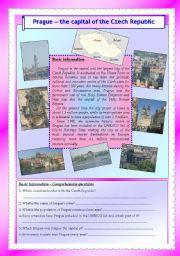 English Worksheet: Prague - tha capital of the Czech Republic (editable with key)