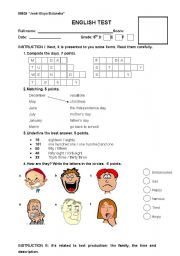 English Worksheets: ASSESSMENT
