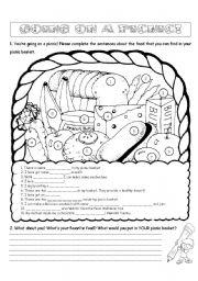 English Worksheet: Going on a Picnic! (Editable)