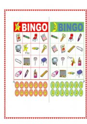 English Worksheets: BINGO OBJECTS OF THE CLASS