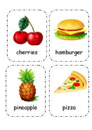 English Worksheet: Food and Drink - Flashcards (Editable) 1/4