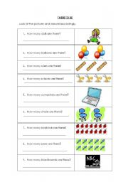 English worksheet: There To Be
