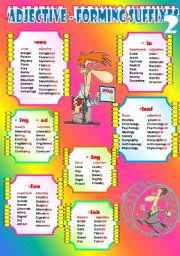 English Worksheet: Suffixes - 4