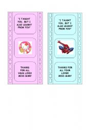 English Worksheets: bookmarkers