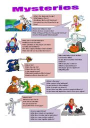 English Worksheets: Easy questions about the mysterious things around us