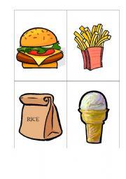 English Worksheet: Flashcards - Food